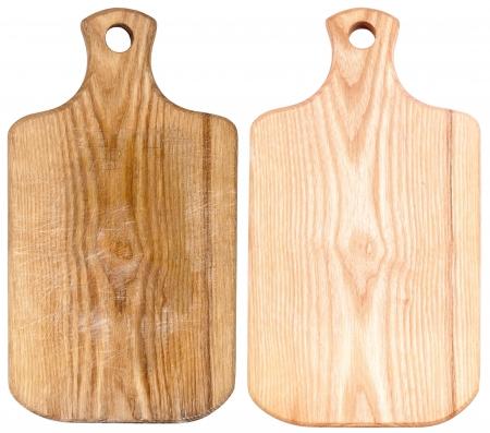 �board: Tablas de cortar nuevos y usados ??aislados en blanco