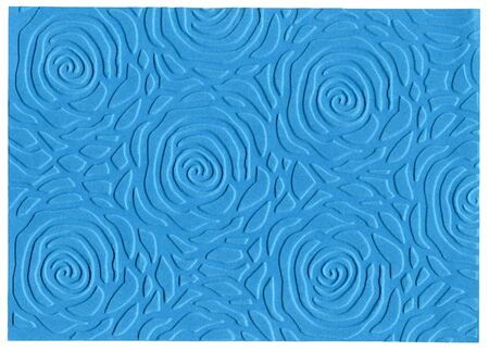 embossed paper: Blue embossed paper isolated on white background  Stock Photo