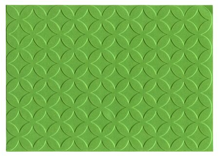 embossed paper: Green embossed paper isolated on white background