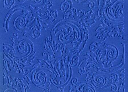 embossed: Blue embossed paper isolated on white background  Stock Photo