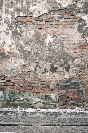 Aged weathered street wall background Imagens - 17644647