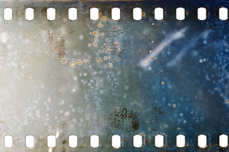 Blank grained moldy film strip texture background Imagens - 19752876