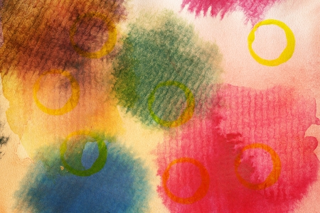 tempera: Designed abstract arts background,used watercolor elements Stock Photo