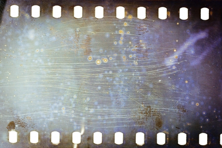 Blank grained moldy film strip texture background    photo