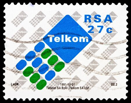 suid: SOUTH AFRICA - CIRCA 1991  A stamp printed in South Africa shows  Telkom , series, circa 1991