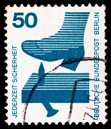 GERMANY - CIRCA 1971: A stamp printed in Germany from the