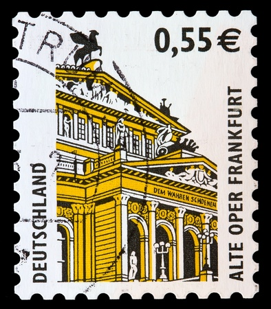 GERMANY - CIRCA 2002: A stamp printed in Germany  shows Old Opera House, Frankfurt, circa 2002