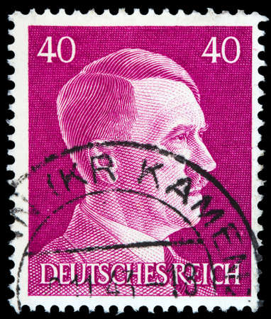 reich: GERMAN REICH - CIRCA 1941: A stamp printed in Germany shows image of Adolf Hitler, series, 1941
