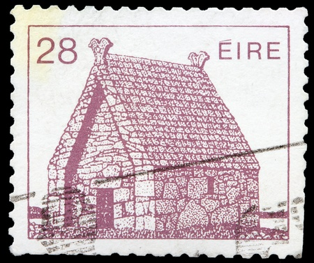 oratory: IRELAND-CIRCA 1982: A stamp printed in Ireland shows image of Oratory of St. Macdara Island, circa 1982.
