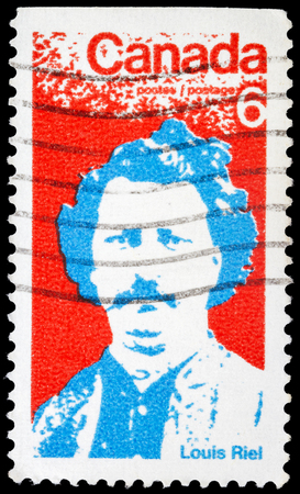 riel: CANADA - CIRCA 1970: stamp printed by Canada, shows Louis Riel, circa 1970