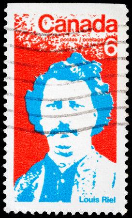 riel: CANADA - CIRCA 1970: stamp printed by Canada, shows Louis Riel, circa 1970