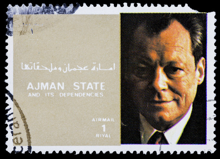 willy: AJMAN - CIRCA 1973: stamp printed by Ajman shows Willy Brand, circa 1973 Editorial