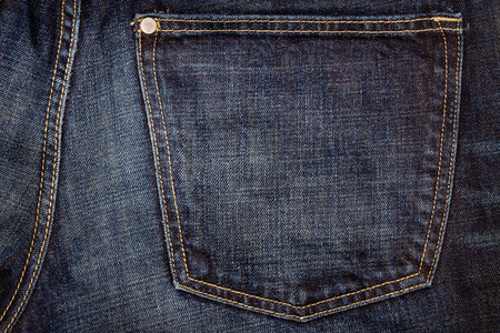 Blue jeans fabric with back pocket Stock Photo