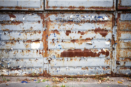 Old rusty metal wall background photo