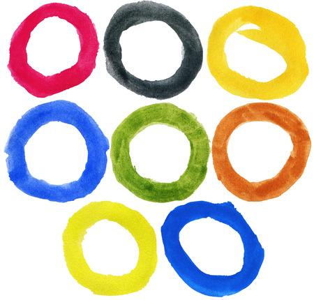 big size: Big size watercolor hand painted circle shape design elements