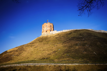 strategical: Gedminas tower in Vilnius, the capital of Lithuania