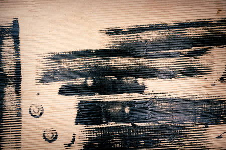 Abstract hand painted on cardboard arts background photo