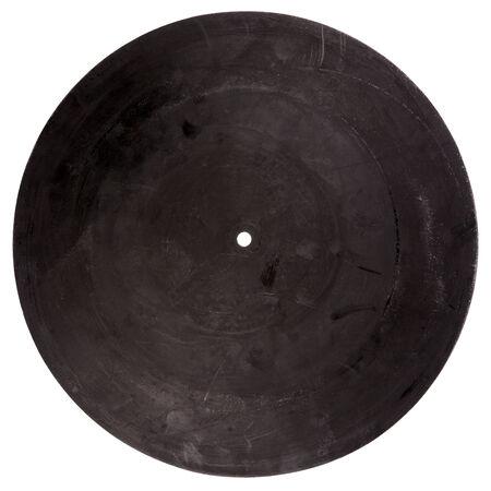 hi fi: Vintage rubber turntable platter mat back isolated on white background
