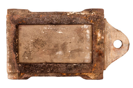 damper: Rusty vintage stove damper isolated on white background