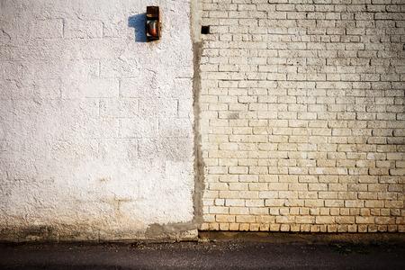 White brick and plastered wall  photo