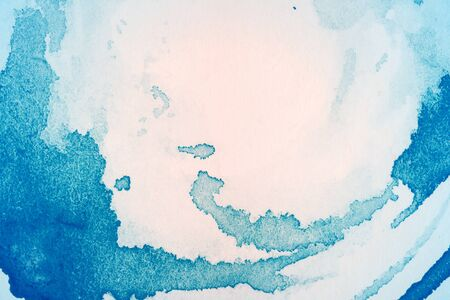 white textured paper: Abstract hand drawn blue and light pink watercolor background