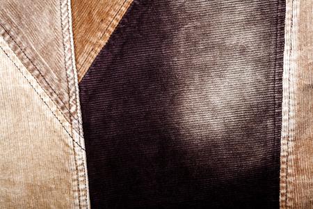 corduroy: Priorit� cucito velluto sfondo marrone