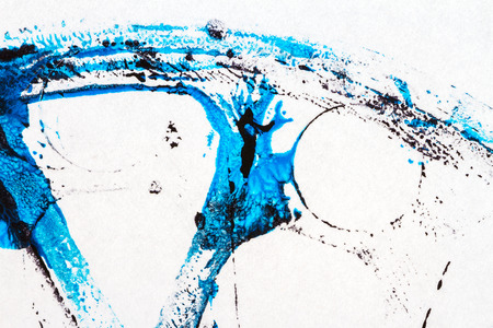 layer mask: Abstract hand painted black and blue acrylic arts background Stock Photo