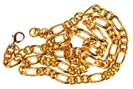 gold chain: Gold chain isolated on white background Stock Photo
