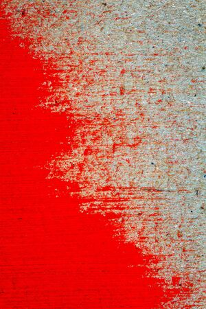 cardboard texture: Abstract hand painted red paint on cardboard texture background