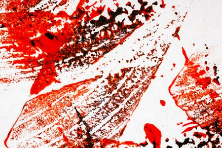 layer masks: Abstract hand painted red and black arts background