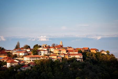 View to Signagi old town in Kakheti region, Georgia Foto de archivo