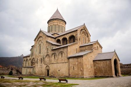 11th century: Mtskheta, Georgia - October 29, 2014: Svetitskhoveli Cathedral built in 11th century in Mtskheta. Mtskheta is one of the oldest cities of Georgia, located 20 km north of capital Tbilisi