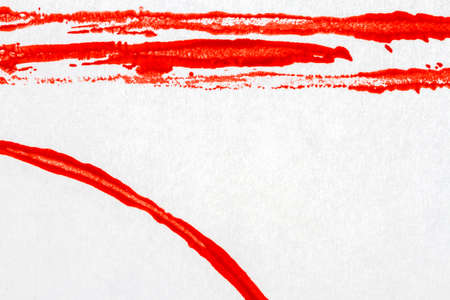 tempera: Abstract hand painted red acrylic arts background