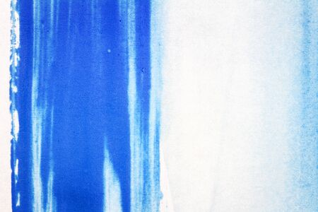 paints: Abstract hand drawn blue watercolor paints background
