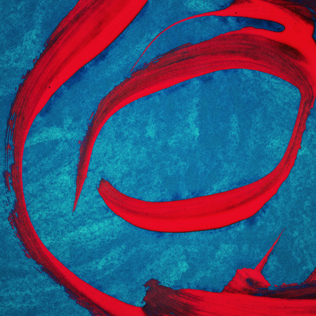 layer masks: Abstract hand painted blue and red acrylic arts background