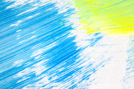 layer masks: Abstract hand painted blue and yellow colors art background
