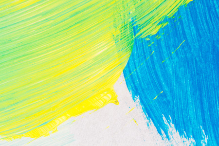 Abstract hand painted blue and yellow colors art background
