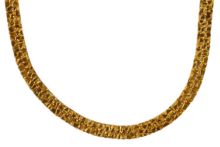 massive: Old massive gold chain isolated on white background Stock Photo