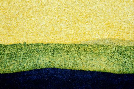 striped background: Abstract hand painted black green and yellow watercolor arts background