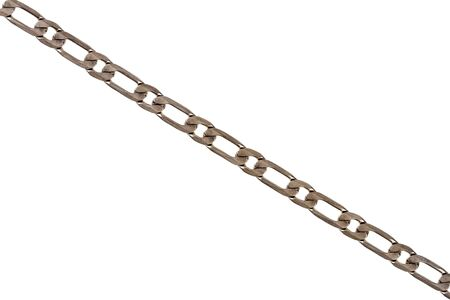 silver plated: Old silver plated chain detail isolated on white Stock Photo