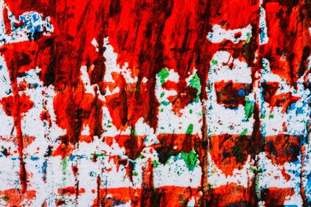 layer masks: Abstract hand painted red and blue acrylic art background