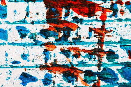 layer mask: Abstract hand painted blue and red acrylic art background Stock Photo