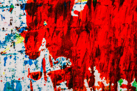 vintage paper: Abstract hand painted blue and red acrylic art background Stock Photo
