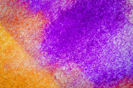 paper texture: Abstract hand drawn orange and purple watercolor background