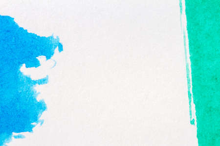 layer masks: Abstract hand painted blue and green art background Stock Photo