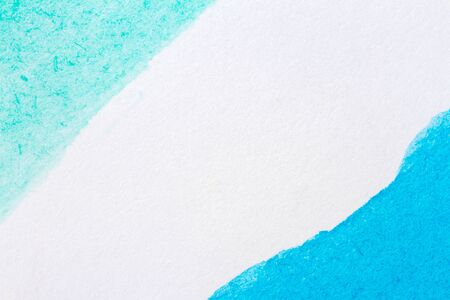 intensity: Abstract hand painted blue and green art background Stock Photo