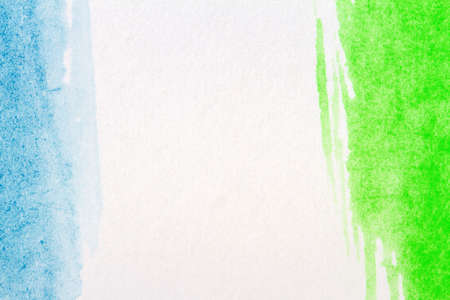 multilayer: Abstract hand painted blue and green art background Stock Photo