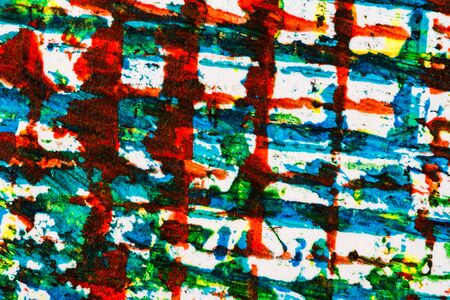 layer masks: Abstract hand painted blue green and red acrylic art background