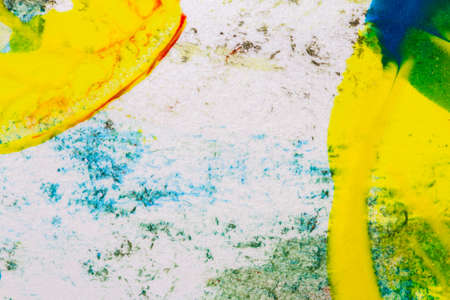 layer masks: Abstract hand painted yellow and green acrylic art background
