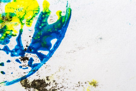 layer mask: Abstract hand painted yellow and green acrylic art background